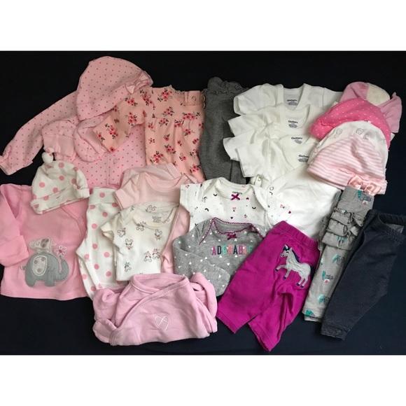 Carter S Matching Sets Bundle Of Newborn Baby Girl Clothes Poshmark